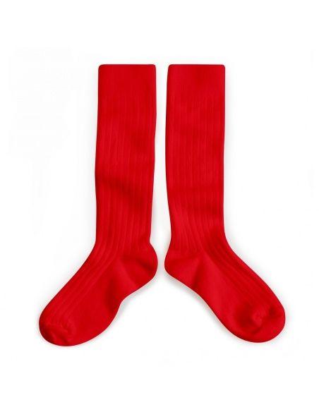 Podkolanówki Kneesocks Vrai Rouge red czerwone - Collégien