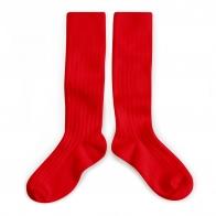 Podkolanówki Kneesocks Vrai Rouge red czerwone