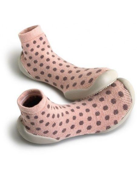 Slipper Socks Nid douilet Creamy pink spots - Collégien