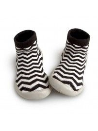 Slipper Socks Zig Zag black white - Collégien