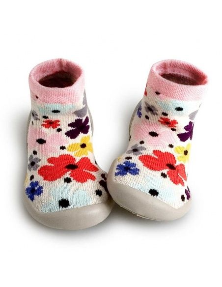 Collégien Slipper Socks Garden Party colorful flowers