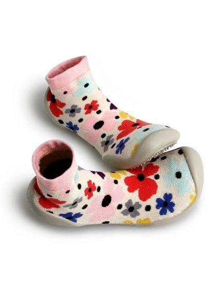Slipper Socks Garden Party colorful flowers - Collégien