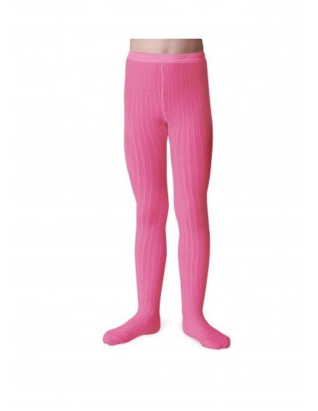 Rajstopy Tights Rose fluo neon pink odblaskowy róż - Collégien