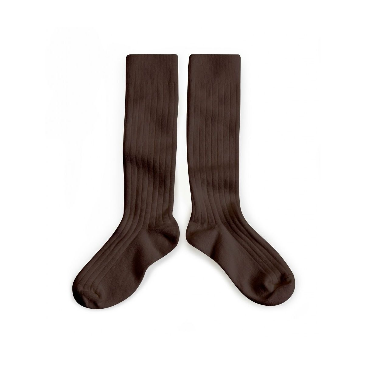 Kneesocks Cafe Noir dark brown - Collégien