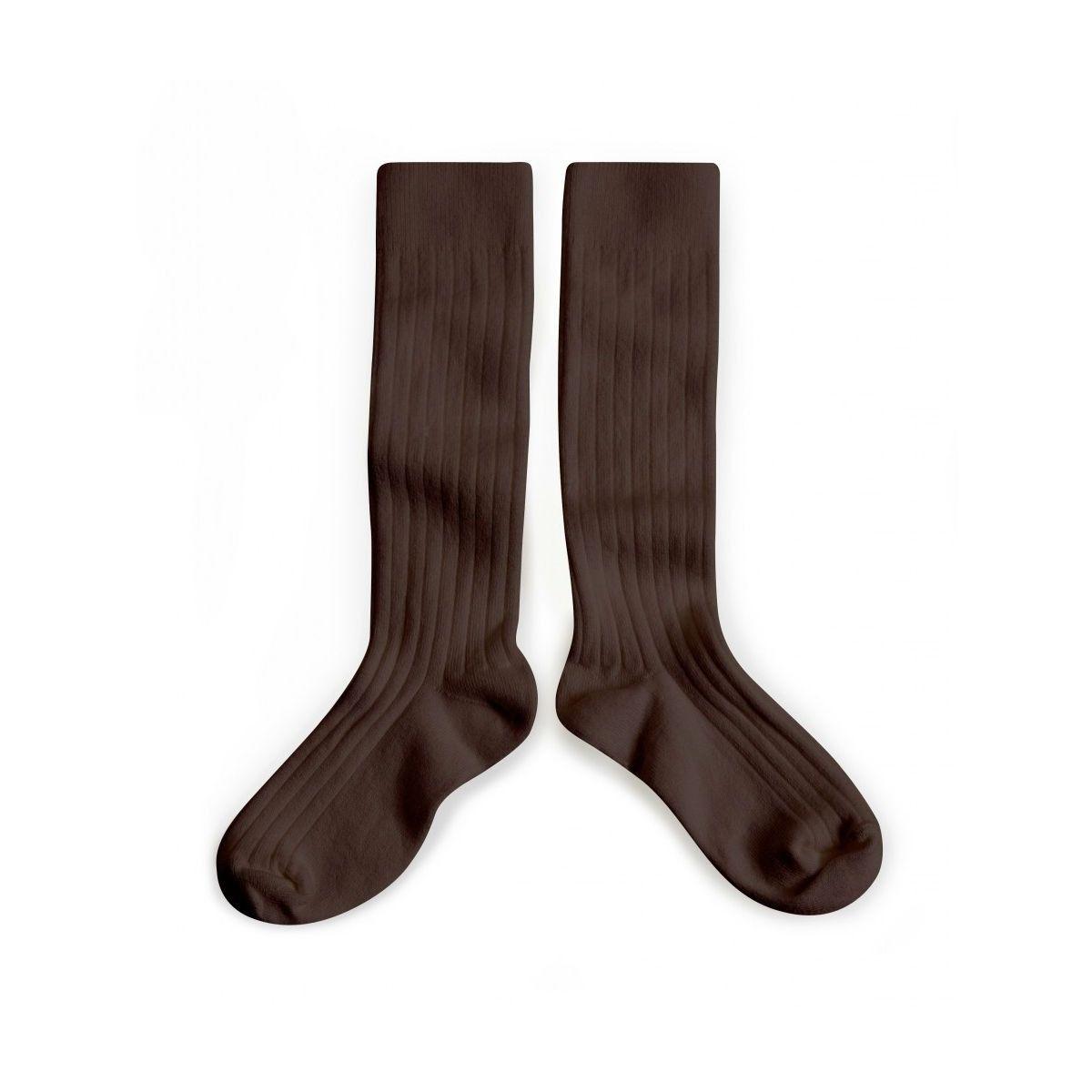 Collégien Podkolanówki Kneesocks Cafe Noir dark brown ciemny