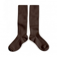 Kneesocks Cafe Noir dark brown