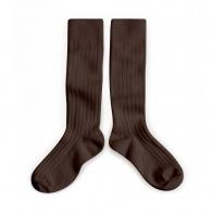 Podkolanówki Kneesocks Cafe Noir dark brown ciemny brąz