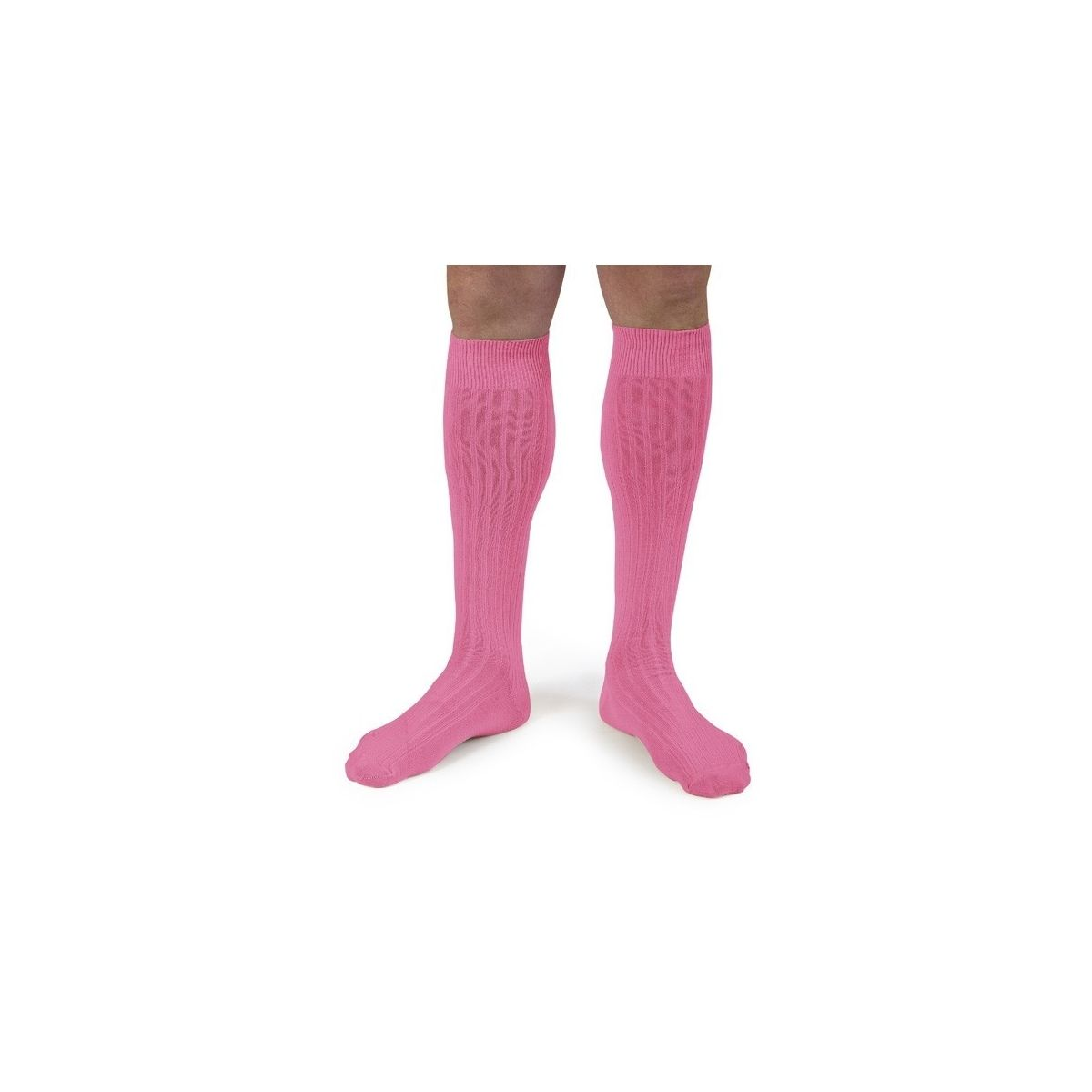 Collégien Kneesocks Rose fluo neon pink