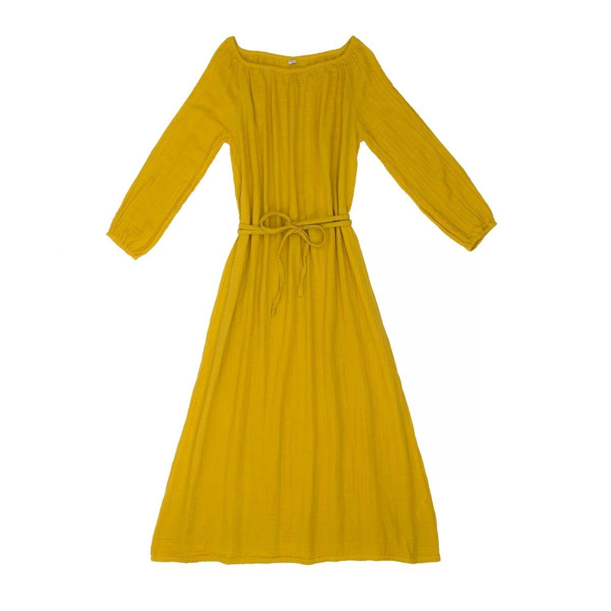 Sukienka dla mamy Nina długa słoneczna żółć - Numero 74