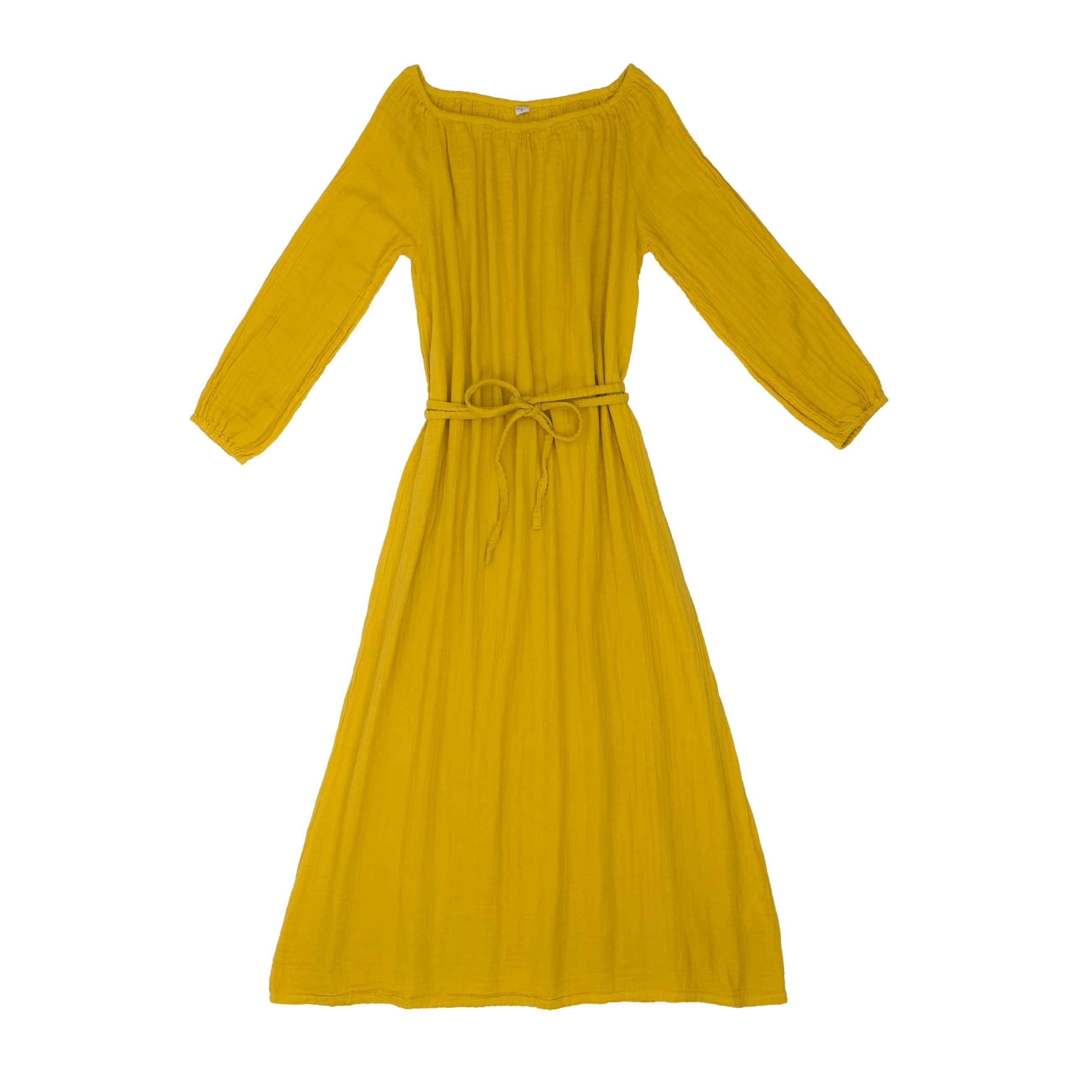 Sukienka dla mamy Nina długa słoneczna żółć