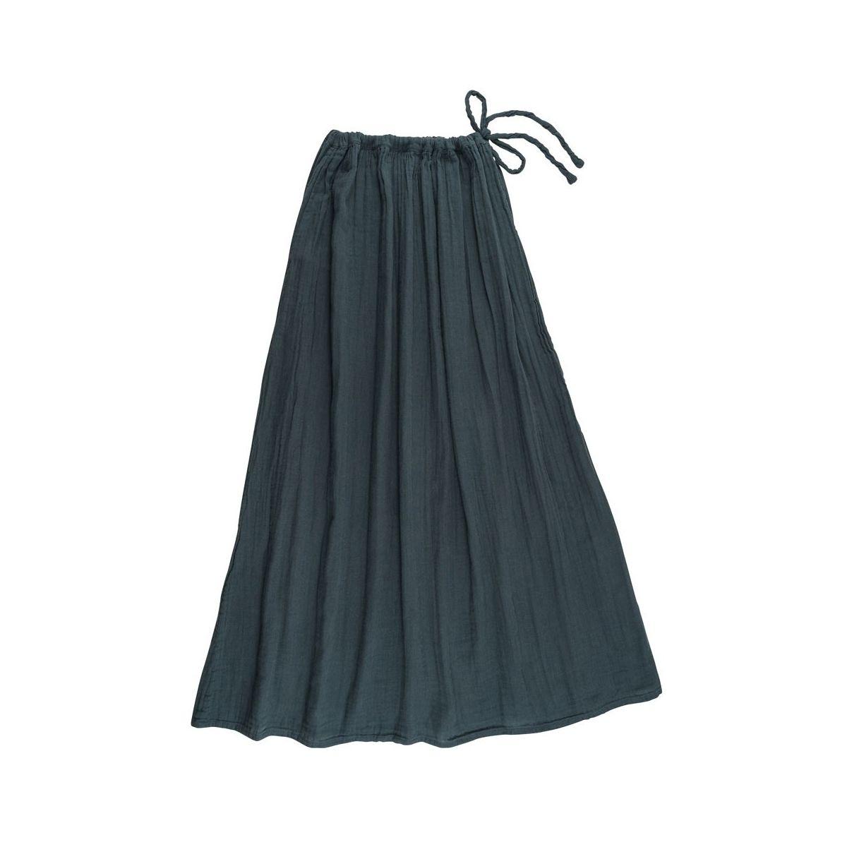Numero 74 Spódnica dla mamy Ava długa szaroniebieska