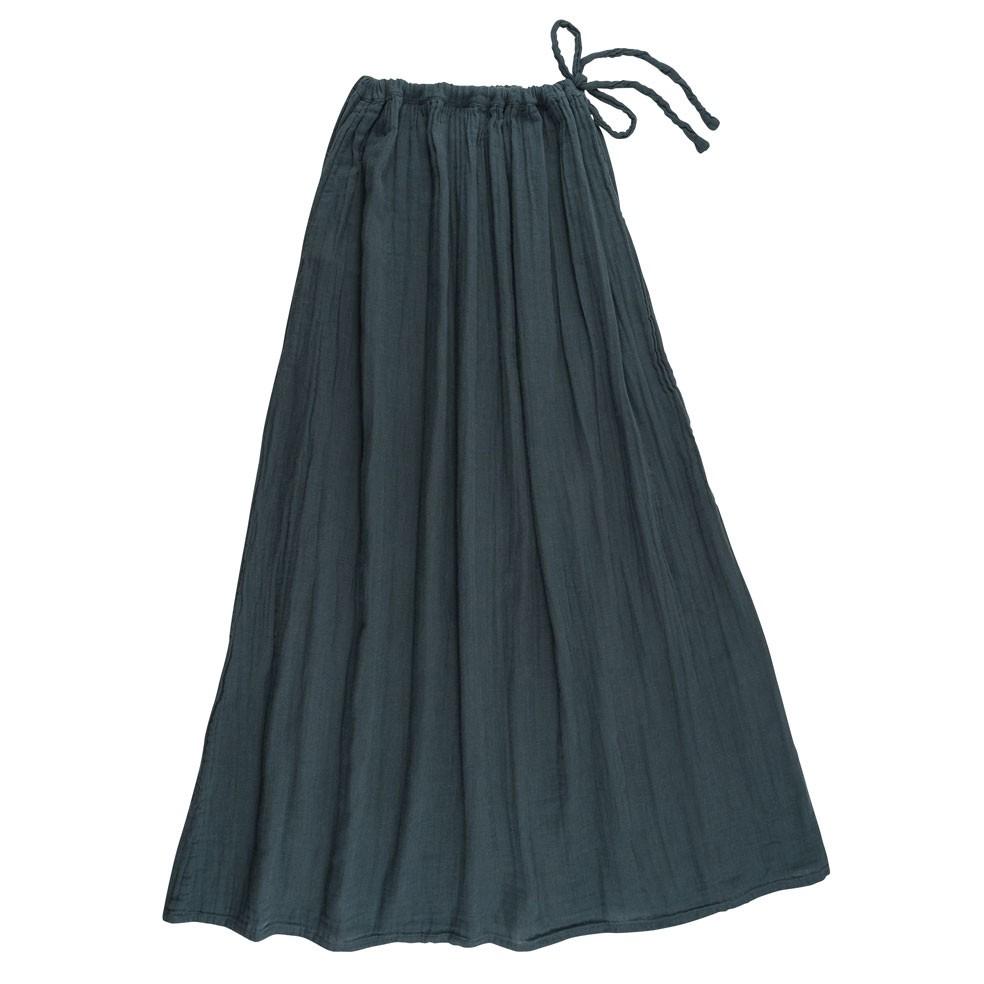 Spódnica dla mamy Ava długa szaroniebieska