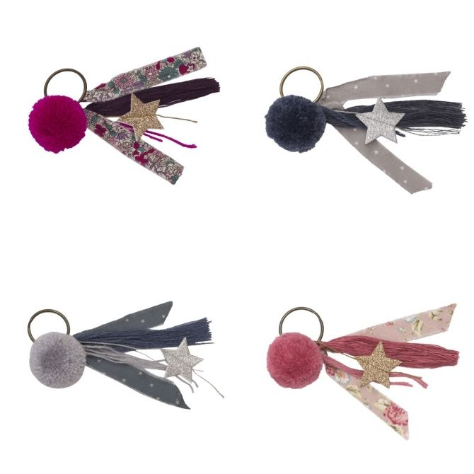 Keychain Pompom mix colors - Numero 74