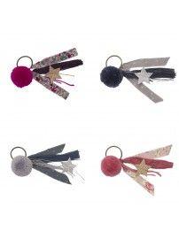 Keychain Pompom mix colors - Numero 74