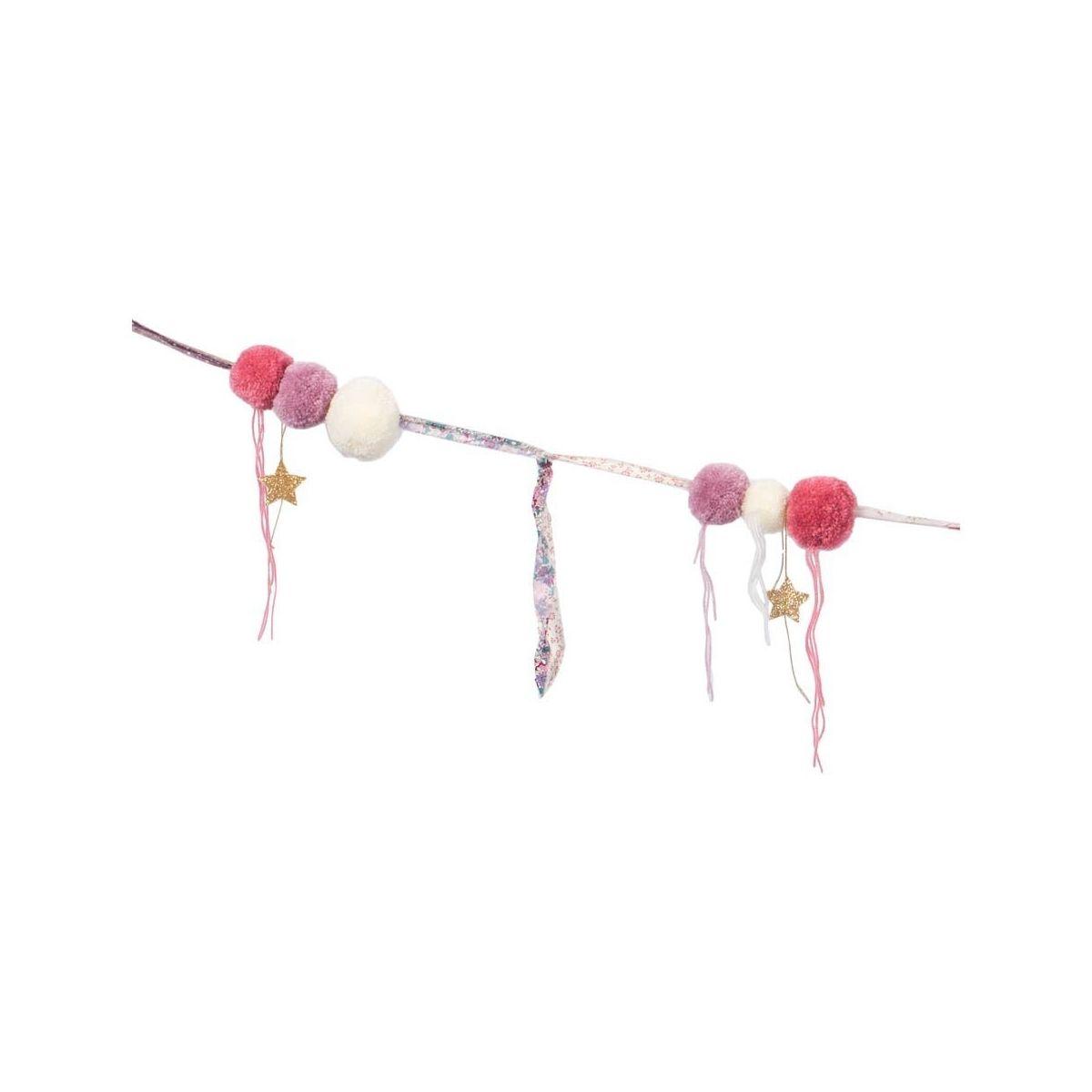 Garland Pompom mix pink - Numero 74