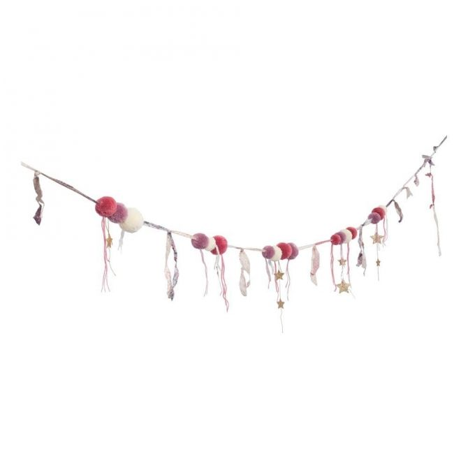 Numero 74 Girlanda Pompom mix pink