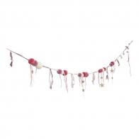 Girlanda Pompom mix różowa