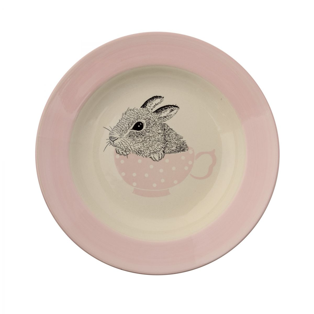 Soup Plate Nanna off white/nude - Bloomingville