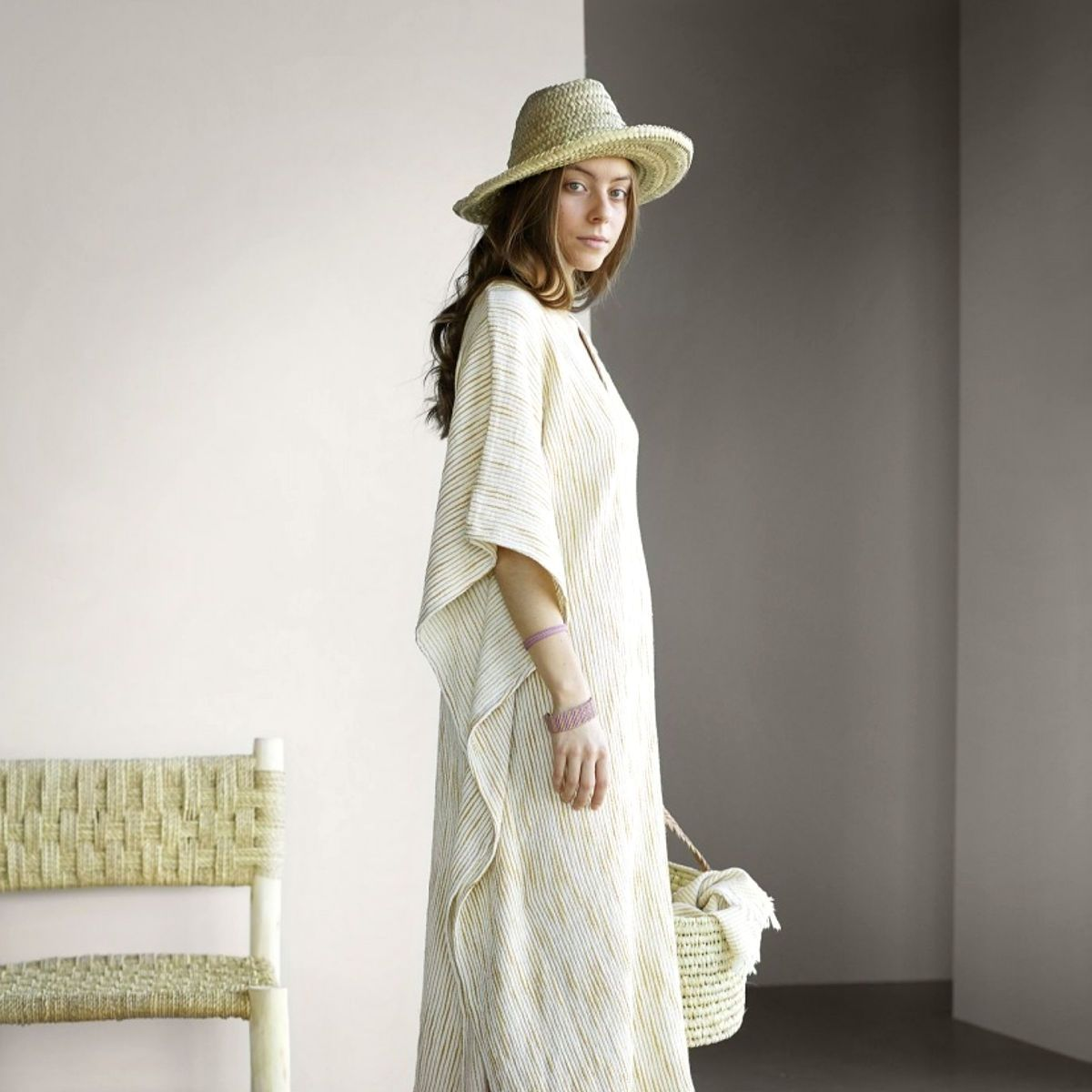 What to pack in the summer suitcase? Flowy, muslin dress, comfy shoes and lots of good vibes!